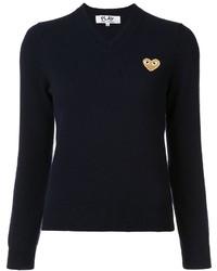 Jersey de lana azul marino de Comme des Garcons