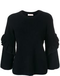 Jersey de lana azul marino de Tory Burch
