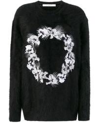 Jersey de lana bordado negro de Givenchy