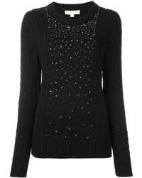 Jersey de lana con adornos negro de MICHAEL Michael Kors