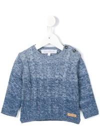 Jersey de lana de punto celeste de Tartine et Chocolat