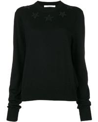 Jersey de lana de punto negro de Givenchy