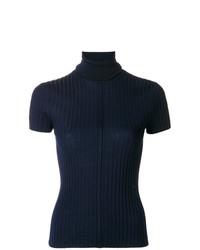 Jersey de manga corta azul marino de Chloé