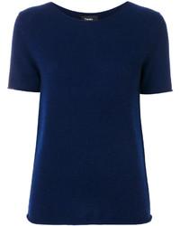Jersey de manga corta azul marino de Theory
