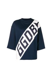 Jersey de Manga Corta Blanco y Azul Marino de Golden Goose Deluxe Brand