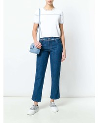 Jersey de manga corta blanco de Miu Miu