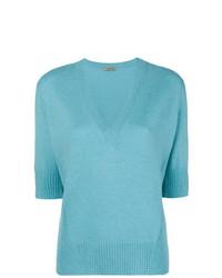 Jersey de manga corta celeste de Bottega Veneta
