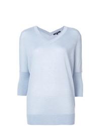 Jersey de manga corta celeste de Derek Lam