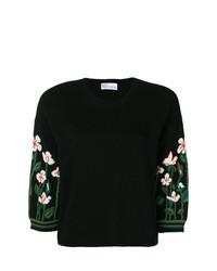 Jersey de manga corta con print de flores negro de RED Valentino