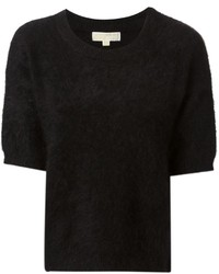 Jersey de manga corta de mohair negro de MICHAEL Michael Kors