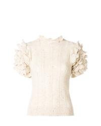 Jersey de manga corta en beige de Ulla Johnson