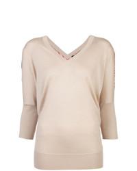 Jersey de manga corta estampado en beige de Derek Lam