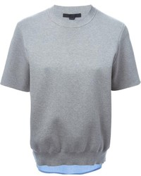 Jersey de manga corta gris de Alexander Wang