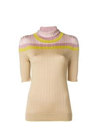 Jersey de manga corta marrón claro de Bottega Veneta