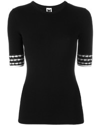 Jersey de manga corta negro de M Missoni