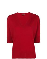 Jersey de manga corta rojo de Bottega Veneta