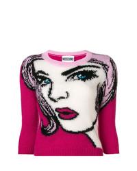 Jersey de manga corta rosa de Moschino