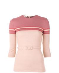 Jersey de manga corta rosado de Miu Miu