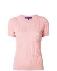 Jersey de manga corta rosado de Ralph Lauren