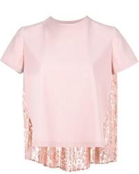 Jersey de manga corta rosado de Valentino