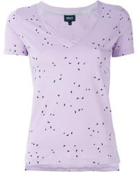 Jersey de manga corta violeta claro de Armani Jeans