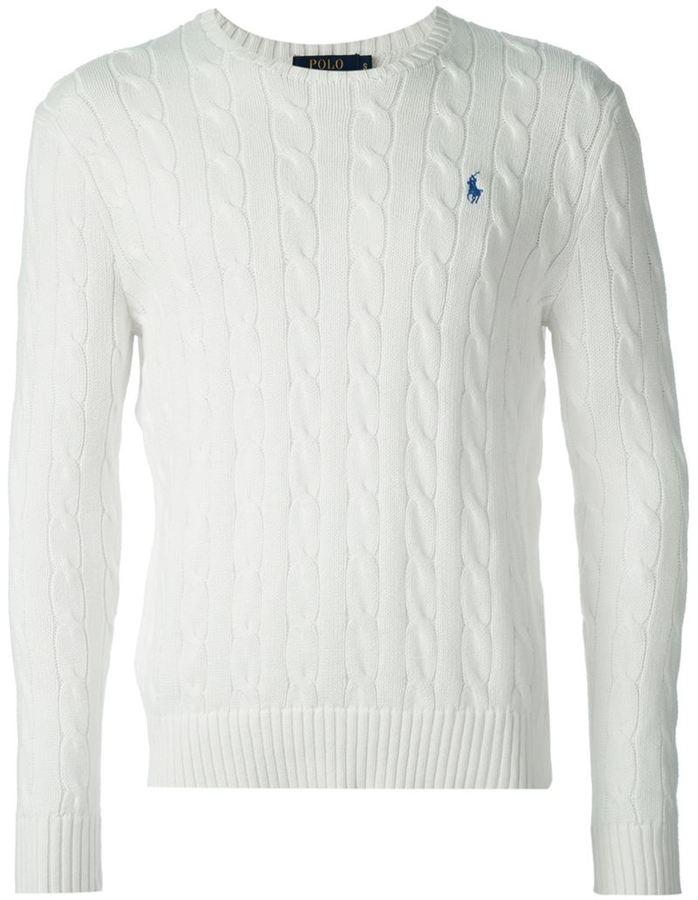 4aefc2b8b27a6 ... Jersey de ochos blanco de Polo Ralph Lauren