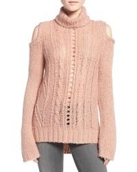Jersey de ochos de punto rosado