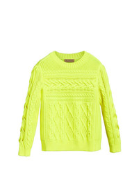 Jersey de ochos en amarillo verdoso de Burberry