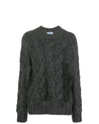 Jersey de ochos en gris oscuro de Prada