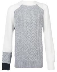 Jersey de ochos gris de Sacai