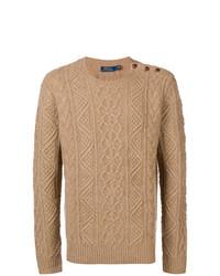 Jersey de ochos marrón claro de Ralph Lauren