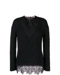 Jersey de ochos negro de Ermanno Scervino