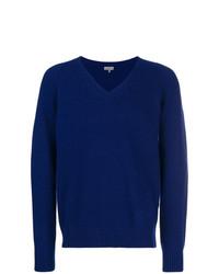 Jersey de pico azul marino de Lanvin
