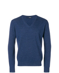 Jersey de pico azul marino de Lardini