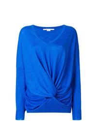 Jersey de pico azul de Stella McCartney