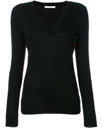 Jersey de pico con print de flores negro de Givenchy