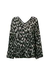 Jersey de pico de leopardo en negro y blanco de Stella McCartney