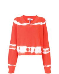 Jersey de pico efecto teñido anudado naranja de MSGM