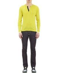 Jersey de pico en amarillo verdoso