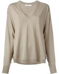 Jersey de pico en beige de Givenchy