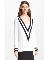 Jersey de pico en blanco y negro