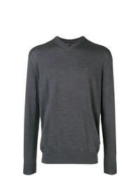 Jersey de pico en gris oscuro de Emporio Armani