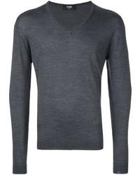 Jersey de pico en gris oscuro de Fendi