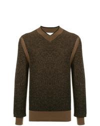 Jersey de pico en marrón oscuro de Cerruti 1881