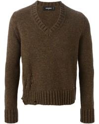 Jersey de pico en marrón oscuro de DSQUARED2