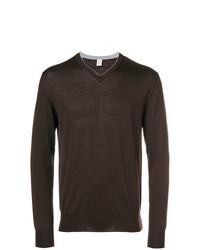 Jersey de pico en marrón oscuro de Eleventy