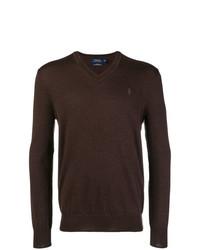 Jersey de pico en marrón oscuro de Polo Ralph Lauren