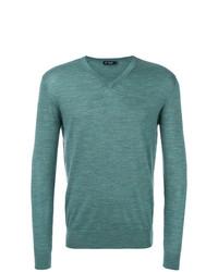 Jersey de pico en verde azulado de Hackett