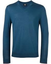 Jersey de pico en verde azulado de Paul Smith