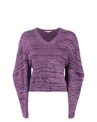 Jersey de pico en violeta de Stella McCartney